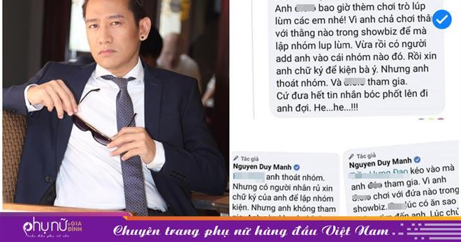 Ca sĩ Duy Mạnh nói về group 'bí ẩn' Nghệ sĩ Việt: 'Cả nhóm kiện 1 người phụ nữ thì hay ho gì'