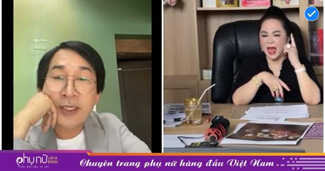 Kim Tử Long livestream lên tiếng vụ 'khẩu chiến' của bà Phương Hằng