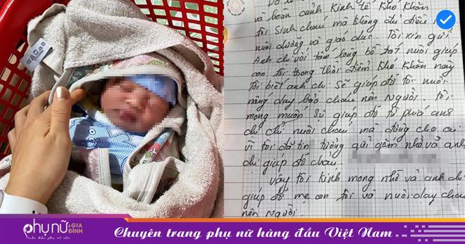 Bé trai 1 ngày tuổi bị bỏ rơi trước của gia đình hiếm muộn kèm tâm thư gửi gắm của người mẹ xin 'đừng cho ai'
