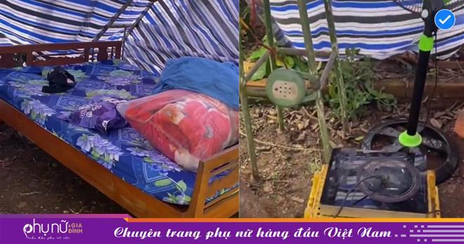 Từ vùng dịch trở về, cô gái được gia đình dựng sẵn túp lều 'lý tưởng' giữa vườn cây sai trái để đảm bảo an toàn cách ly tại nhà