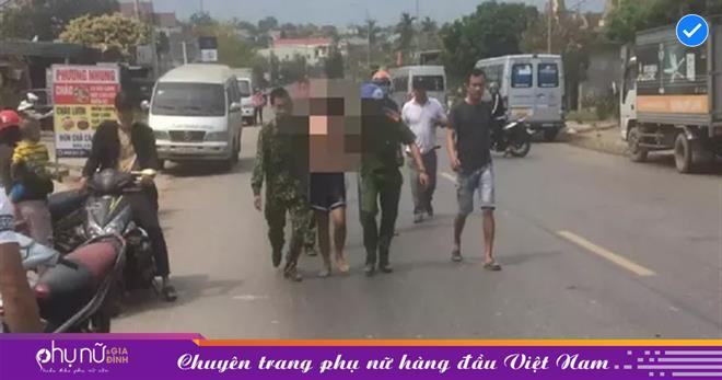 Người đàn ông 30 tuổi vác dao đi chém người, ôtô, xe máy ở Quảng Trị