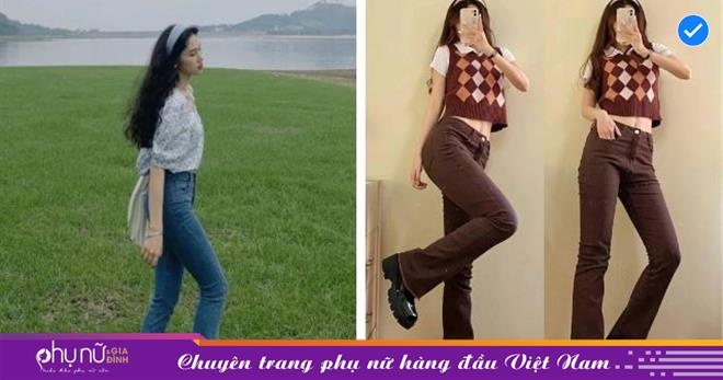 """Kiểu quần jeans hack dáng cực đỉnh, vừa dài chân vừa tôn vòng 3 """"đỉnh của chóp"""" đó các chị em"""