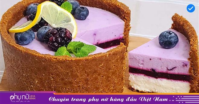 Không cần lò nướng vẫn 'cho ra lò' cheesecake hoa quả cực kỳ ngon miệng, bắt mắt