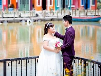 Ảnh cưới của 9X Quảng Ninh và 'vợ béo' nặng hơn 30 kg