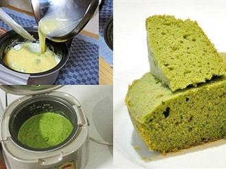 Tự làm bánh bông lan trà xanh không cần lò nướng ngon như ngoài hàng