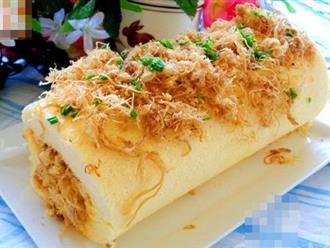 Đổi vị với bánh bông lan cuộn ruốc siêu ngon cho bữa sáng