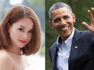 Lan Phương, hoa hậu Thu Thảo trò chuyện với Tổng thống Obama