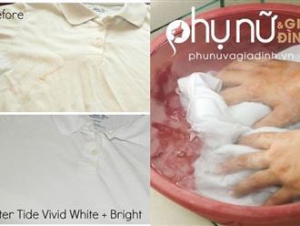 Cực hay: Tẩy quần áo trắng tinh không cần dùng đến thuốc tẩy