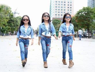3 mẫu nhí là chị em sinh ba làm khuynh đảo các sàn diễn thời trang