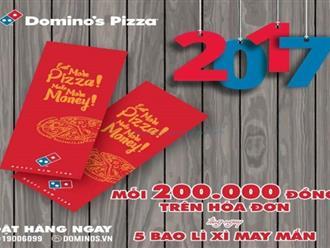 Từ ngày 04 - 25/01/2017 Domino's Pizza khuyến mãi tặng bao lì xì nhân tết