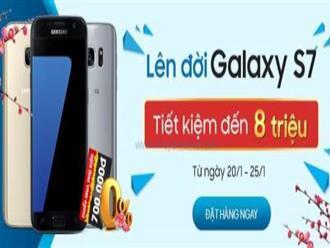 Từ ngày 22 - 25/01/2017 FPT khuyến mãi Samsung Galaxy S7 giá siêu tiết kiệm