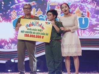 Con trai Công Lý chiến thắng 130 triệu đồng ở game show