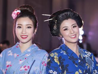 Đỗ Mỹ Linh, Ngọc Hân diện kimono dự sự kiện