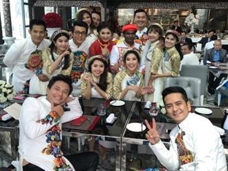 Nguyệt Ánh và ông xã Ấn Độ rạng rỡ cùng dàn sao Việt trong lễ ăn hỏi