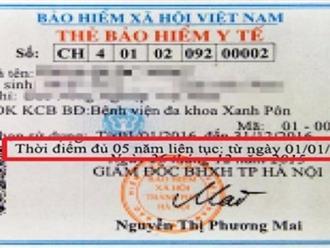 Tham gia BHYT 5 năm liên tục trở lên được hoàn lại tiền