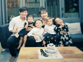 Vợ Lý Hải đón tuổi 32 bên chồng con và ba mẹ