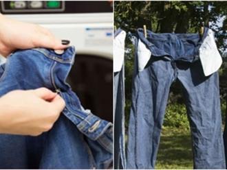 5 mẹo giúp quần jeans luôn bền màu