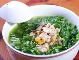 Cách nấu canh rau cải cá rô đồng không bị tanh, nước ngọt lịm