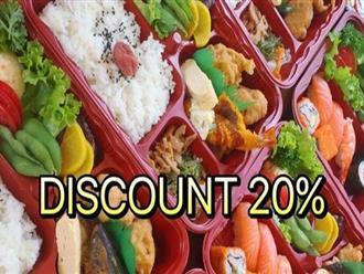 Từ 10/04 - 10/05/2017, Tokyo Deli Shushi giảm giá 20% thực đơn bữa trưa