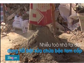 Vỉa hè phố đi bộ Nguyễn Huệ thành 'công trường' thu nhỏ