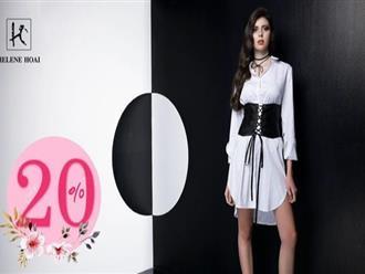 Từ ngày 12/04 - 16/04/2017, thời trang Hélene Hoai giảm giá 25% một số dòng sản phẩm