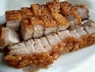 Thịt lợn rán làm kiểu này cả nhà ăn hoài chẳng ngán, gắp không dừng đũa