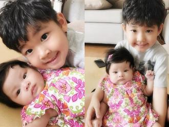 """Hải Băng khoe ảnh con trai riêng của Thành Đạt """"xung phong"""" chăm sóc em gái"""