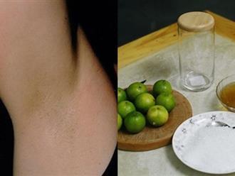 Đừng dùng nhíp nhổ lông nách làm gì kẻo rước họa vào thân, cứ lấy nửa quả chanh chấm vào muối rồi chà theo cách này, nách sạch bong không còn 1 sợi lông
