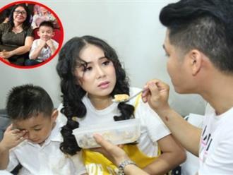 Mẹ của Lê Phương mang đồ ăn đến trường quay cho con gái và con rể tương lai