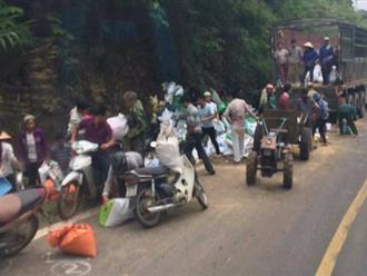 Người sống sót duy nhất vụ xe tải đâm vào núi: 'Người dân mang cả công nông đến hôi của'