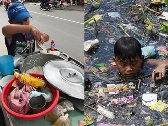 Nhói lòng cuộc sống những đứa trẻ bán đậu hũ, cạnh tranh ở bãi rác kiếm sống qua ngày