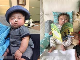 Hình ảnh bé Phạm Đức Lộc lần đầu mọc răng, tập lật khiến nhiều người vỡ òa hạnh phúc
