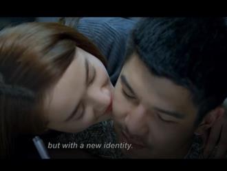 Nhã Phương âu yếm hôn Cường Seven trong phim mới