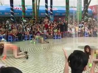 4 cô gái mặc hở hang múa phản cảm trước mặt trẻ em: Phía công viên VH Đầm Sen nói gì?