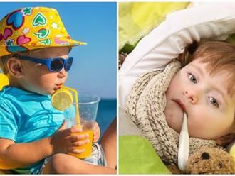 Cảnh báo 4 hiểm họa đe dọa sức khỏe bé trong thời tiết nắng nóng