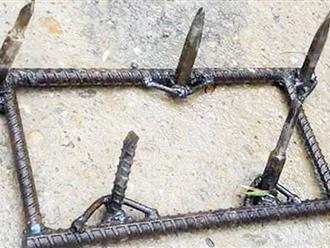 Rợn người bàn chông tự chế của đinh tặc ở Tuyên Quang