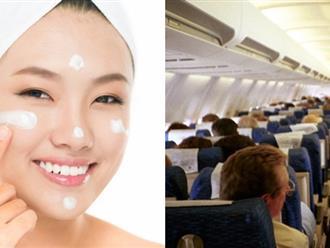 Cách dưỡng da khi du lịch bằng máy bay