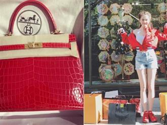 Ngọc Trinh vi vu trời Âu, sắm túi Hermès hơn trăm triệu
