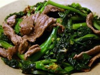 Cách làm thịt bò xào ngồng cải thơm ngon, đậm đà