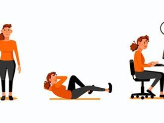 Mỗi ngày chỉ cần 4 phút luyện tập với 5 động tác này cũng giúp giữ dáng và có một cơ thể khoẻ mạnh