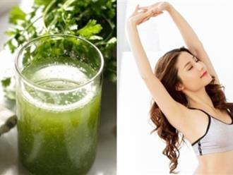 Nước giảm cân từ rau mùi diệt gọn 5kg trong 7 ngày
