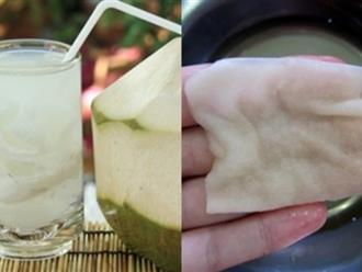 Uống liên tục nước dừa trong 7 ngày, giảm ngay 7kg da lại trắng hồng, mịn màng như em bé