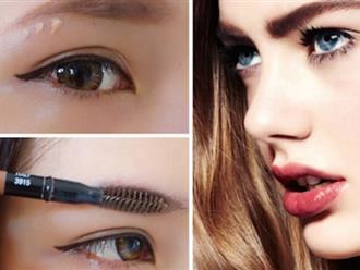 Cách trang điểm cho lông mày rậm thêm phần thanh thoát
