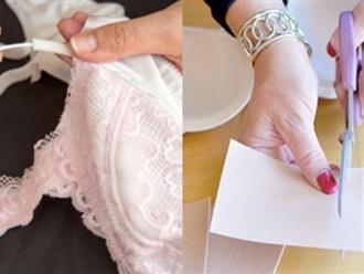 Đừng vứt áo ngực chỉ vì gọng sắt lòi ra, đây là cách sửa vô cùng đơn giản chỉ sau 1 phút