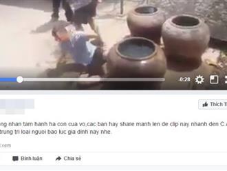 Sự thật về clip 'cha dượng dìm đầu con riêng vào thùng nước khiến nhiều người tức giận'