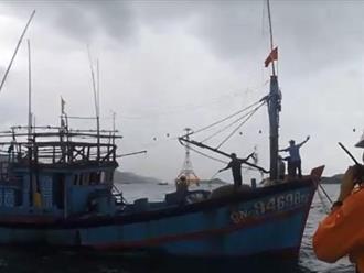 Cứu thành công 6 ngư dân bị hỏng tàu giữa cơn bão số 2