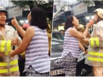 Người phụ nữ vi phạm luật giao thông chửi bới, thóa mạ chiến sĩ CSGT có thể bị xử lý hình sự?