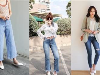 4 kiểu quần jeans chất lừ vừa hợp xu hướng, lại giúp đôi chân thon gọn, dài miên man