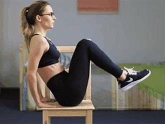 4 động tác đơn giản giúp loại bỏ mỡ bụng, người ngồi nhiều nhất định nên tập