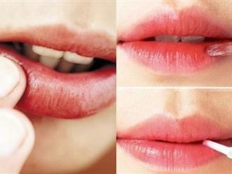 Nếu bạn vẫn đang có thói quen dùng tay để thoa son thì hãy dừng lại ngay nếu không muốn môi sớm bị hoại tử